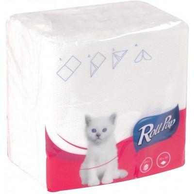 RollPap Ubrousky Soft, Bílá 1-vrstvé, 30x30cm,