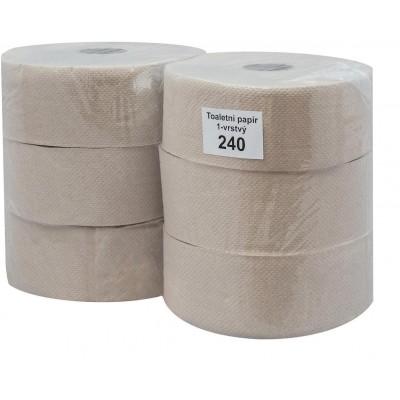 RollPap Jumbo 240, šedá, 1-vrstvé,