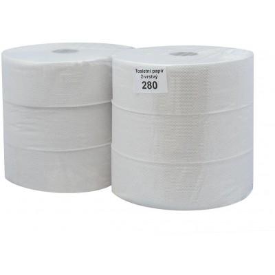 RollPap Jumbo Best 280, bílá, 2-vrstvé,