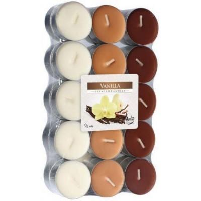 Bispol Aura Vanilla čajové svíčky 30 ks