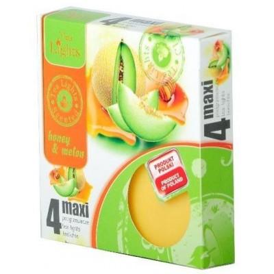 Tea Lights Honey & Melon maxi čajové svíčky 4ks