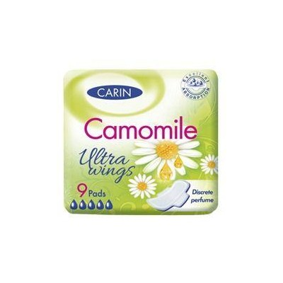 Carin Camomile Ultra Wings vložky 9 ks