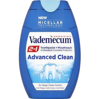 Vademecum 2in1 Advanced Clean zubní pasta a ústní voda 75 ml