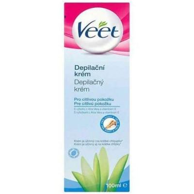Veet Depilační krém pro citlivou pokožku Aloe Vera & Vitamin E 100 ml