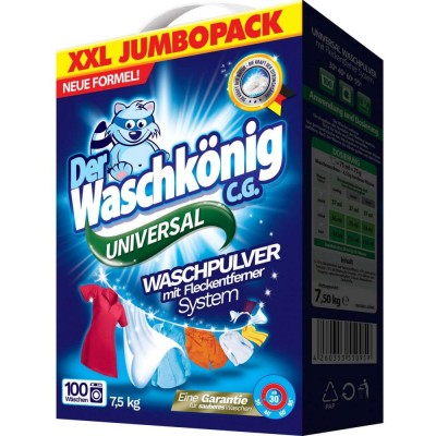Der Waschkönig Prací prášek Universal 7,5 kg (100 PD)