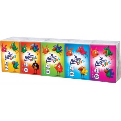 Linteo Kids Mini Papírové kapesníky 3-vrstvé 10ks