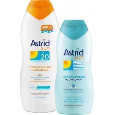 Astrid Sun Duopack hydratační mléko na opalování OF20 400 ml + po opalování 200 ml