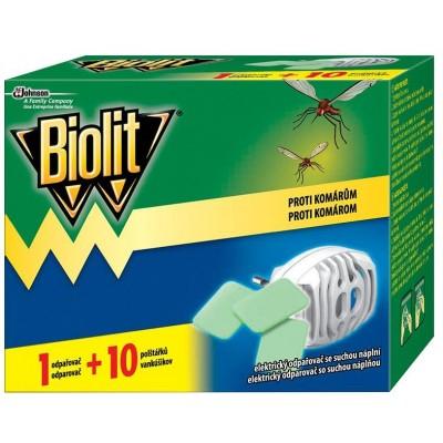 Biolit Proti komárům Elektrický odpařovač se suchou náplní 10 polštářků