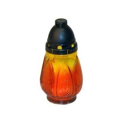 Hřbitovní svíčka Plamen sklo 15 cm
