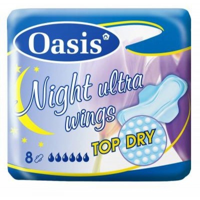 Oasis Night Ultra Wings vložky 8 ks