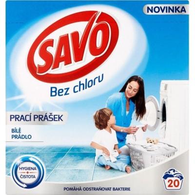 Savo White bez chloru prací prášek na bílé prádlo 20 PD 1,4 kg