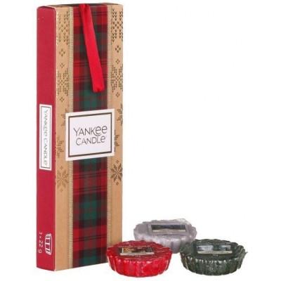 Yankee Candle Vánoční dárková sada - 3 ks vonných vosků