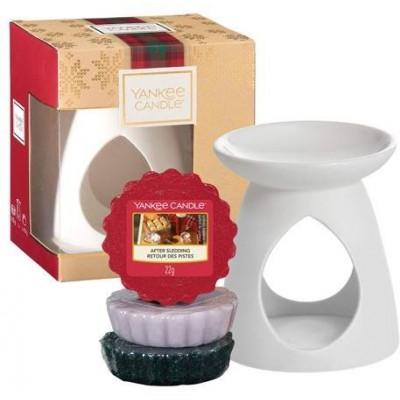 Yankee Candle Vánoční set Aroma Lampa + 3 vonné vosky