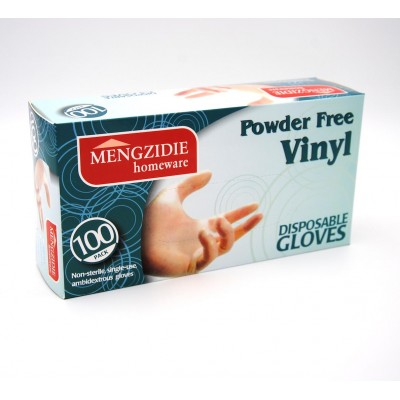 Mengzidie Vinylové rukavice 100ks/bal, vel. XL