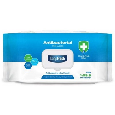 DeepFresh Aksan antibakteriální vlhčené ubrousky 100 ks