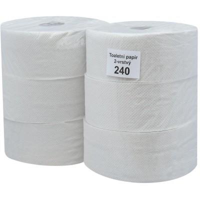 RollPap Jumbo 240, bílá, 2-vrstvé, 195m, 1 ks