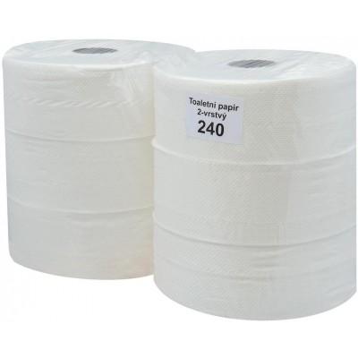 RollPap Jumbo Best 240, bílá, 2-vrstvé, 195m, 1 ks