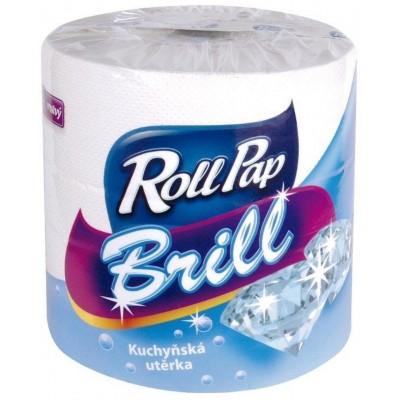 RollPap Kuchyňské utěrky Brill 2-vrstvé, 120m, 1 role