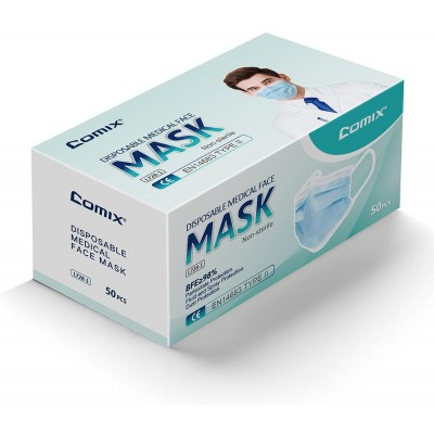 Comix Lékařská rouška 3-vrstvá Comix, 50 ks, L728, Type II