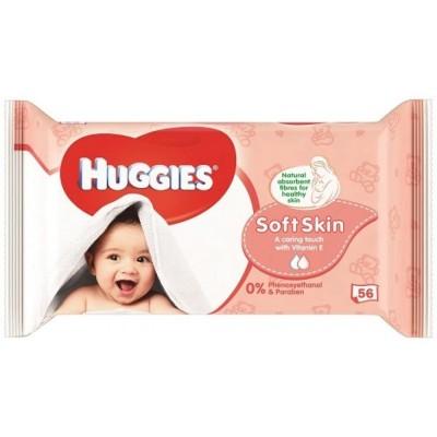 Huggies Vlhčené ubrousky Soft Skin 56 ks