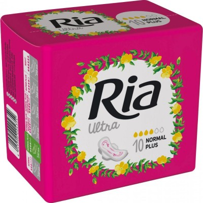 Ria Silk vložky Ultra Wings Normal Plus 10 ks