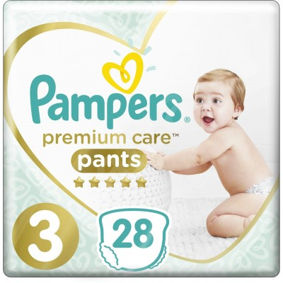 Pampers Premium kalhotkové plenky 6-11 kg Carry Pack s3 28 ks