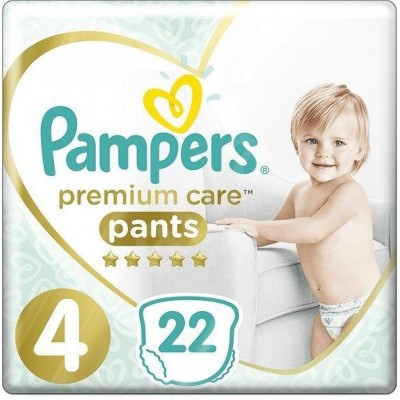 Pampers Premium kalhotkové plenky 9-15 kg Carry Pack s4 22 ks
