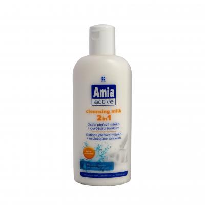 Amia Active Čistící pleťové mléko + osvěžující tonikum 2v1 200 ml