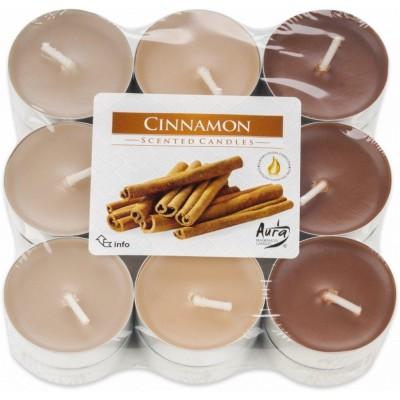 Bispol Aura čajové svíčky - Cinnamon 18 ks