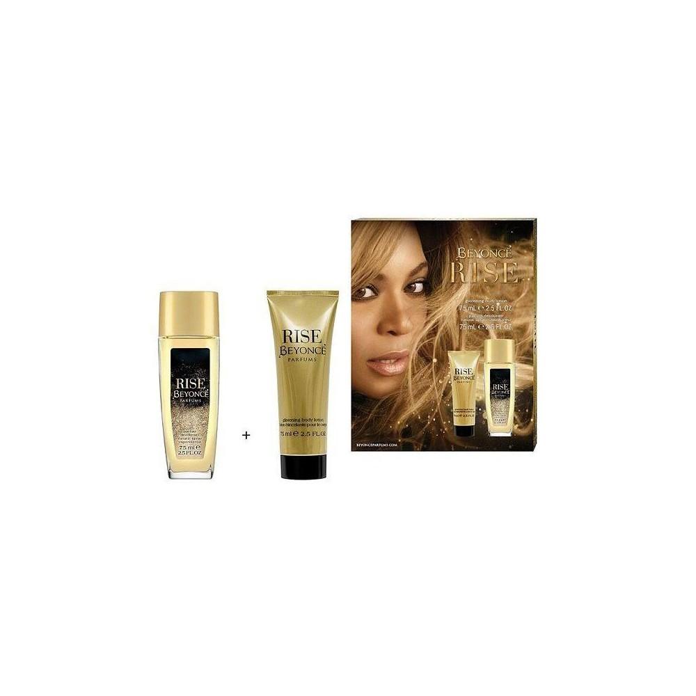 Beyoncé Rise deo natural sprej 75 ml + tělové mléko 75 ml (dárková sada)