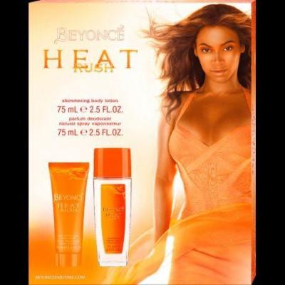 Beyoncé Heat Rush deo natural sprej 75 ml + tělové mléko 75 ml (dárková sada)