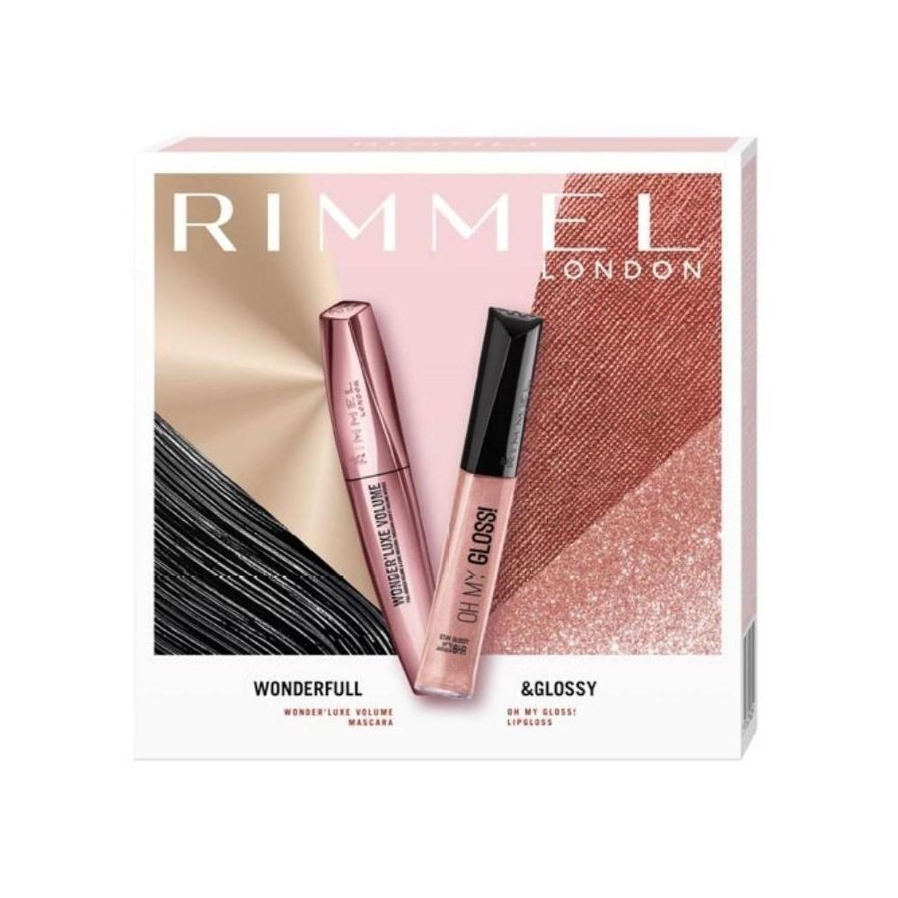 Rimmel London Extra Super Lash řasenka 11ml + Stay mate pudr 14g (dárková sada)