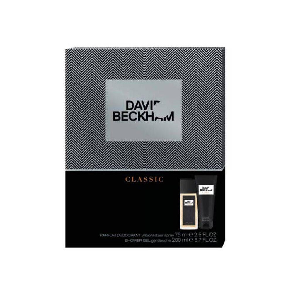 David Beckham Classic Parfémovaný deodorant sklo 75 ml + SG Classic 200 ml (dárková sada)