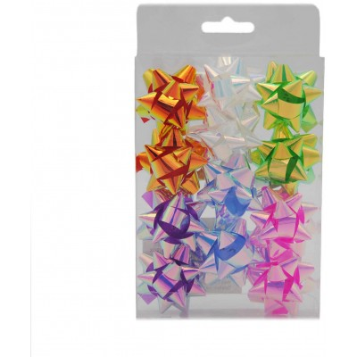 "Rozeta (mašle) na dárky 35 mm (1,5"") 12 ks (mix barev)"