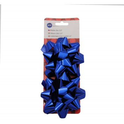 "Rozeta (mašle) na dárky 90 mm (3,5"") 24 ks (mix barev)"