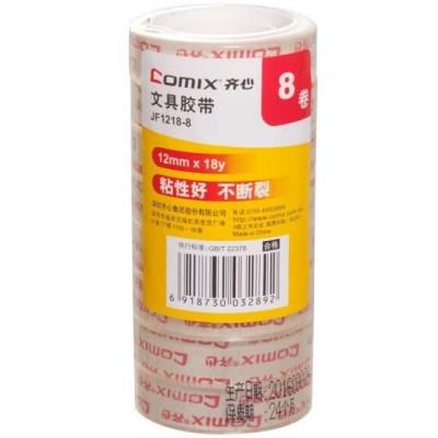 Comix Páska lepící transparentní 12mm x 16m Comix JF1218-8ks