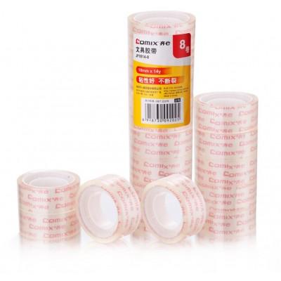 Comix Páska lepící transparentní 18mm x 12,8m Comix JF1814-8ks