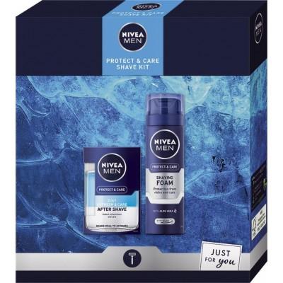 Nivea Men Protect & Care 2v1 voda po holení100 ml + pěna na holení 200 ml dárková sada