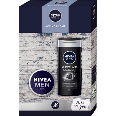 Nivea Men Active Clean sprchový gel 250 ml + krém 75 ml dárková sada