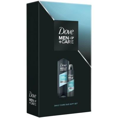 Dove Men + Care Clean Comfort sprchový gel 250 ml + deospray 150 ml dárková sada