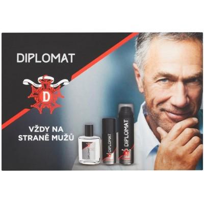 Astrid Diplomat Classic voda po holení 100 ml + pěna na holení 250 ml + deodorant sprej 150 ml dárko