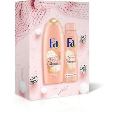 Fa Divine Moment dárková sada sprchový gel + deodorant 250 ml + 150 ml
