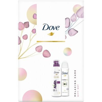 Dove Acai olej sprchová pěna pro ženy 200 ml + Invisible Dry Clean Touch deospray pro ženy 150 ml dá