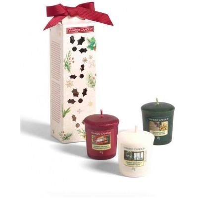 Yankee Candle Vánoční dárková sada 3x votivní svíčka 2020
