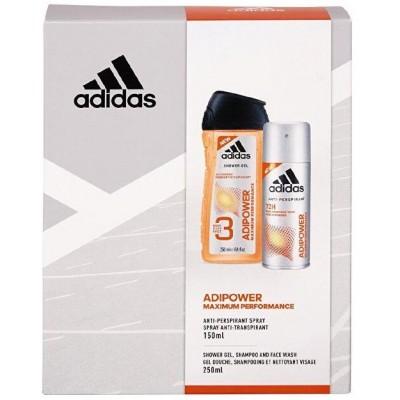 Adidas AdiPower sprchový gel 250 ml + deospray 150 ml (dárková sada)