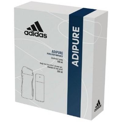 Adidas Adipure Men deospray 150 ml + sprchový gel 250 ml (dárková sada)