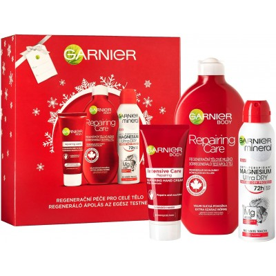Garnier Intensive Body Repair Tělové mléko 400 ml + Deodorant 150 ml + Krém na ruce 100 ml (dárková
