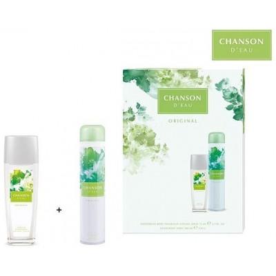 Chanson Original Parfémovaný deodorant ve skle 75ml + Antiperspirant 200ml (dárková sada)