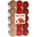 Bispol Aura čajové svíčky - Apple - Cinnamon 30 ks