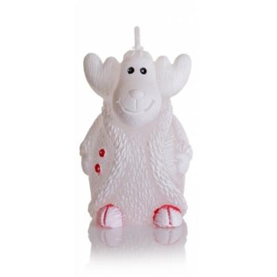 Bartek Svíčka Christmas Xmas Reindeer White 55g